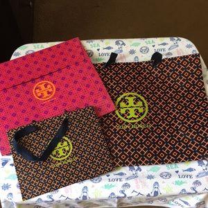 Bundle of Tory Burch giftbags